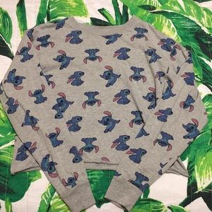 DISNEY Stitch Long Sleeve Crop Top, Size XS